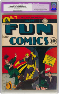 More Fun Comics #73 (DC, 1941) CGC Apparent VF- 7.5 Moderate (P) Cream to off-white pages
