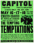 Music Memorabilia:Posters, Temptations 1969 Chicago Concert Poster During Their Most Successful Year....