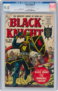 Black Knight #5 (Atlas, 1956) CGC VF/NM 9.0 Off-white to white pages