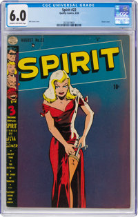 The Spirit #22 (Quality, 1950) CGC FN 6.0 Cream to off-white pages