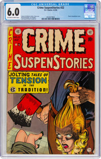 Crime SuspenStories #22 (EC, 1954) CGC FN 6.0 Off-white to white pages