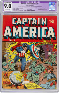 Captain America Comics #2 (Timely, 1941) CGC Apparent VF/NM 9.0 Slight to Moderate (A-2) Off-white pages
