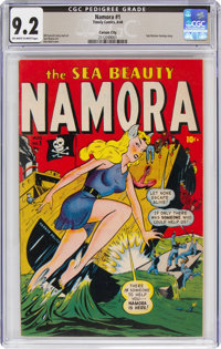 Namora #1 Carson City Pedigree (Timely, 1948) CGC NM- 9.2 Off-white to white pages
