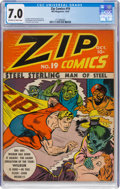 Golden Age (1938-1955):Superhero, Zip Comics #19 (MLJ, 1941) CGC FN/VF 7.0 Off-white to white pages....