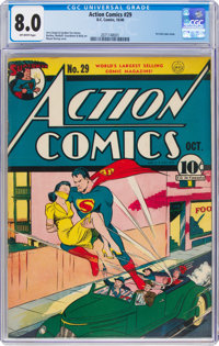 Action Comics #29 (DC, 1940) CGC VF 8.0 Off-white pages