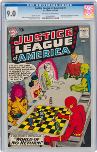 Justice League of America #1 (DC, 1960) CGC VF/NM 9.0 Off-white to white pages