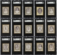 1909 T204 Ramly SGC-Graded Collection (15) - A New To the Hobby Find!