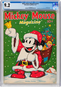 Mickey Mouse Magazine V3#3 (K. K. Publications/Western Publishing Co., 1937) CGC NM- 9.2 Off-white to white pages