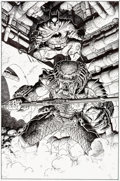 Original Comic Art:Splash Pages, Arthur Adams Batman Versus Predator #2 Pin-Up Original Art (DC/Dark Horse, 1992)....