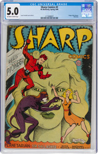Sharp Comics #2 (H. C. Blackerby, 1946) CGC VG/FN 5.0 Off-white to white pages