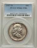 Franklin Half Dollars, 1957-D 50C MS66+ Full Bell Lines PCGS. PCGS Population: (479/29 and 40/0+). NGC Census: (196/9 and 8/0+). CDN: $150 Whsle. ...