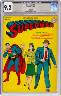 Superman #30 Rockford Pedigree (DC, 1944) CGC NM- 9.2 Off-white to white pages