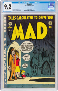 MAD #1 (EC, 1952) CGC NM- 9.2 Off-white pages