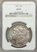 Morgan Dollars: , 1893 $1 AU55 NGC. NGC Census: (459/2594). PCGS Population: (496/4567). CDN: $360 Whsle. Bid for NGC/PCGS AU55. Mintage 389,...
