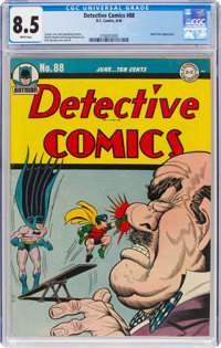 Detective Comics #88 (DC, 1944) CGC VF+ 8.5 White pages