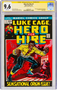 Hero for Hire #1 Signature Series - Signed by Stan Lee (Marvel, 1972) CGC NM+ 9.6 White pages