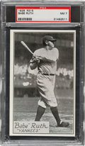 Baseball Cards:Singles (Pre-1930), 1929-30 R315 Anonymous Babe Ruth (No name or Position) PSA NM 7. ...