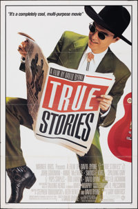 """True Stories & Other Lot (Warner Bros., 1986). Folded, Overall: Very Fine-. One Sheets (2) (27"""" X 41"""") Sty..."""
