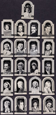 """Hollywood Arcade Card Lot (c. 1930s). Fine/Very Fine. Arcade Cards (21) (2"""" X 3""""). Miscellaneous. ... (Total:..."""
