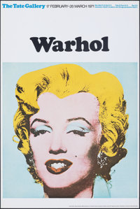 """Marilyn Monroe by Andy Warhol (Tate Gallery, 1971). Rolled, Very Fine. British Art Gallery Poster (20"""" X 30"""")..."""