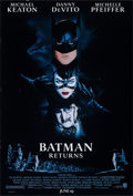 """Movie Posters:Action, Batman Returns (Warner Bros., 1992). Rolled, Very Fine. One Sheets (2) Identical (27"""" X 40"""") SS Advance. John Alvin A..."""