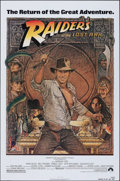 """Movie Posters:Adventure, Raiders of the Lost Ark (Paramount, R-1982). Rolled, Very Fine+. One Sheet (27"""" X 41""""). Richard Amsel Artwork. Adventure.. ..."""