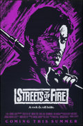 """Movie Posters:Action, Streets of Fire (Universal, 1984). Rolled, Very Fine. One Sheet (27"""" X 41"""") Advance, Purple Style. Action.. ..."""