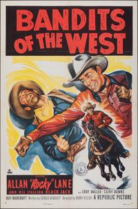 """Bandits of the West & Other Lot (Republic, 1953). Folded, Very Fine-. One Sheets (2) (27"""" X 41""""). Western..."""