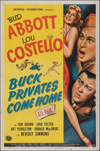 """Buck Privates Come Home (Universal International, 1947). Folded, Fine+. One Sheet (27"""" X 41""""). Comedy"""