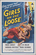 Movie Posters:Bad Girl, Girls on the Loose (Universal International, 1958). Folded...