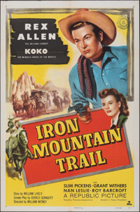 """Iron Mountain Trail & Other Lot (Republic, 1953). Folded, Very Fine-. One Sheet (27"""" X 41""""). Western..."""
