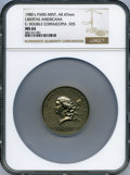 20th Century Tokens and Medals, (1980) Libertas Americana, Double Cornucopia, Paris Mint, MS64 NGC. .925 Silver, 47mm....