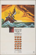 """Movie Posters:Adventure, The Old Man and the Sea (Warner Bros., 1958). Folded, Very Fine-. One Sheet (27"""" X 41""""). Adventure.. ..."""