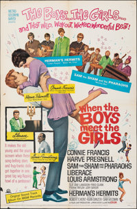 """When the Boys Meet the Girls & Other Lot (MGM, 1965). Folded, Fine+. One Sheets (2) (27"""" X 41""""). Musical..."""