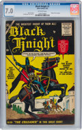 Golden Age (1938-1955):Adventure, Black Knight #1 (Atlas, 1955) CGC FN/VF 7.0 Off-white pages....