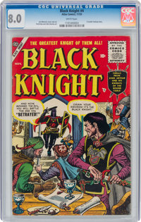 Black Knight #4 (Atlas, 1955) CGC VF 8.0 White pages