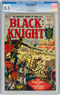 Black Knight #2 (Atlas, 1955) CGC VF+ 8.5 Cream to off-white pages