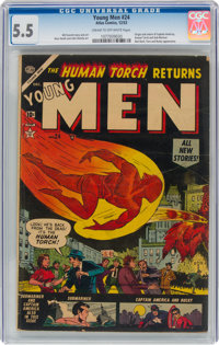 Young Men #24 (Atlas, 1953) CGC FN- 5.5 Cream to off-white pages