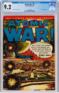 Atomic War! #3 (Ace, 1953) CGC NM- 9.2 Off-white to white pages