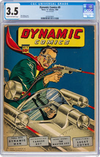 Dynamic Comics #9 (Chesler, 1944) CGC VG- 3.5 Cream to off-white pages