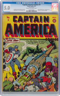 Captain America Comics #3 (Timely, 1941) CGC VG/FN 5.0 Cream to off-white pages