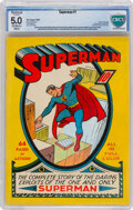 Golden Age (1938-1955):Superhero, Superman #1 (DC, 1939) CBCS Restored VG/FN 5.0 Extensive Amateur Off-white to white pages....