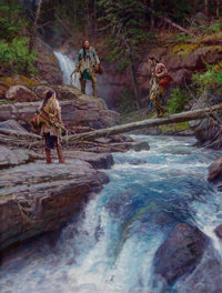 Martin Grelle (American, b. 1954) Where Waters Run Cold, 2012 Oil on linen 42 x 32 inches (106.7