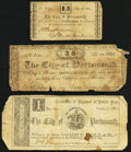Portsmouth, VA- City of Portsmouth 15¢; 25¢; $1 1861-62 Good or Better. ... (Total: 3 notes)