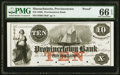 Provincetown, MA- Provincetown Bank $10 185_ as G10a Proof PMG Gem Uncirculated 66 EPQ