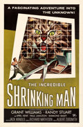 """Movie Posters:Science Fiction, The Incredible Shrinking Man (Universal International, 1957). Very Fine+ on Linen. One Sheet (27"""" X 41""""). Reynold Brown Artw..."""