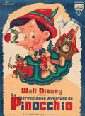 """Movie Posters:Animation, Pinocchio (RKO, 1946). Very Fine- on Linen. First Post-War Release Full-Bleed French Grande (45"""" X 61.5"""") Bernard Lancy Artw..."""