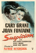 Movie Posters:Hitchcock, Suspicion (RKO, 1941). Fine+ on Linen. One Sheet (...