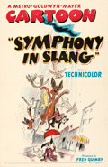 """Movie Posters:Animation, Symphony in Slang (MGM, 1951). Very Fine on Linen. One Sheet (27"""" X 41"""").. ..."""