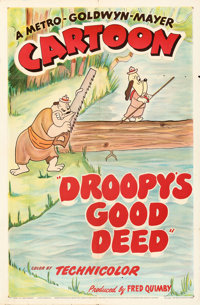 """Droopy's Good Deed (MGM, 1951). Folded, Fine/Very Fine. One Sheet (27"""" X 41"""")"""